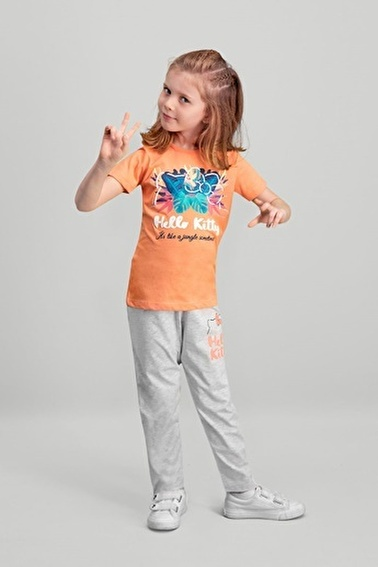 Hello Kitty Hello Kitty Lisanslı Yavruağzı Kız Çocuk Pijama Takımı Pembe